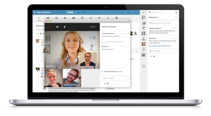 Video Chat Macbook Pro 730x404 Citrix's collaboration platform Podio gets Skype like video conferencing and in chat file sharing