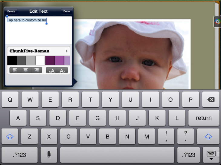 c16 730x547 Tapsbook for iPad taps photos from your camera roll and cloud storage and turns them into albums