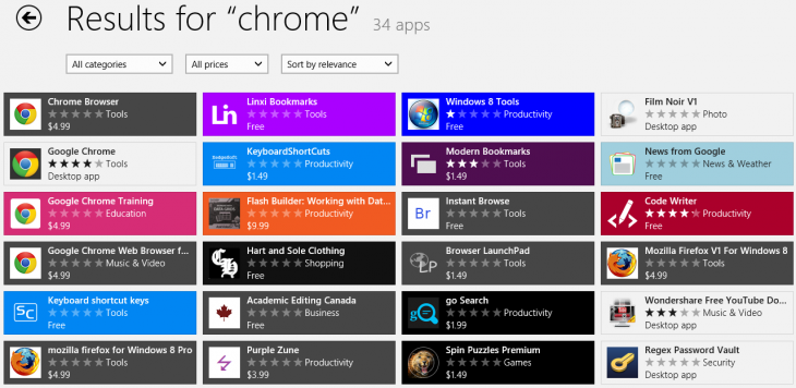 chrome fake windows store 730x356 Microsoft fails to screen over 100 fake Windows Store submissions under the guise of popular apps and games
