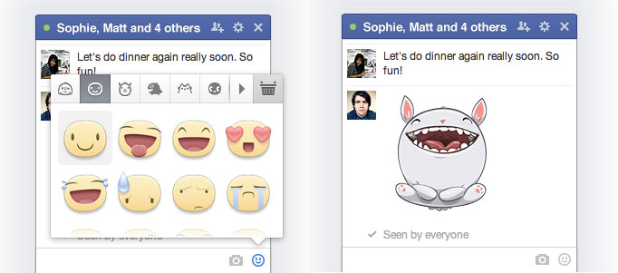 facebook web stickers Facebook brings stickers to its Messages feature on the Web