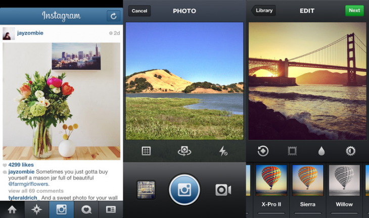 instagram ios 730x432 Instagram for iOS gets landscape option to shoot photos and videos, Cinema support for front facing cameras