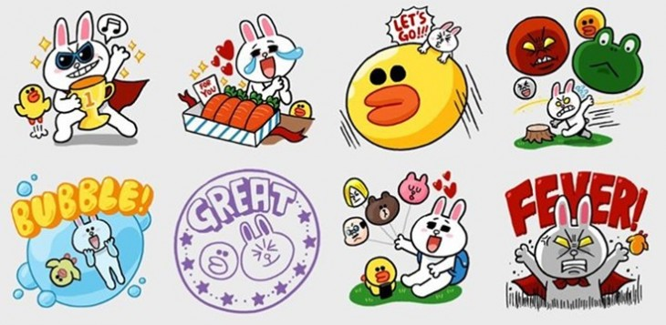 line stickers51 730x357 Stickers: From Japanese craze to global mobile messaging phenomenon
