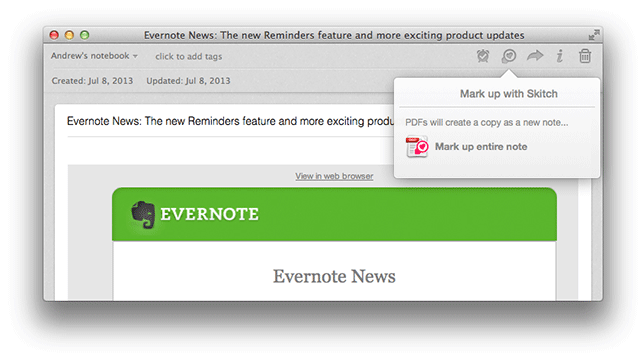 mac skitch Evernote for Mac gets built in Skitch markup, document previews and a text highlighter