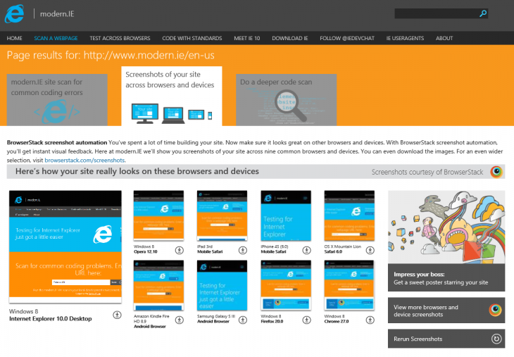 modern.IE Updates 730x507 Microsoft releases IE11 Developer Preview for Windows 7 with updated F12 tools and Modern.IE site