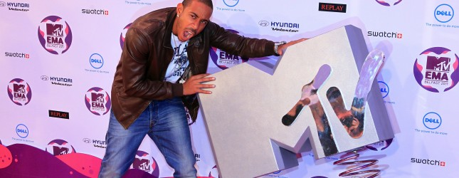 US rapper Ludacris poses on the red carp