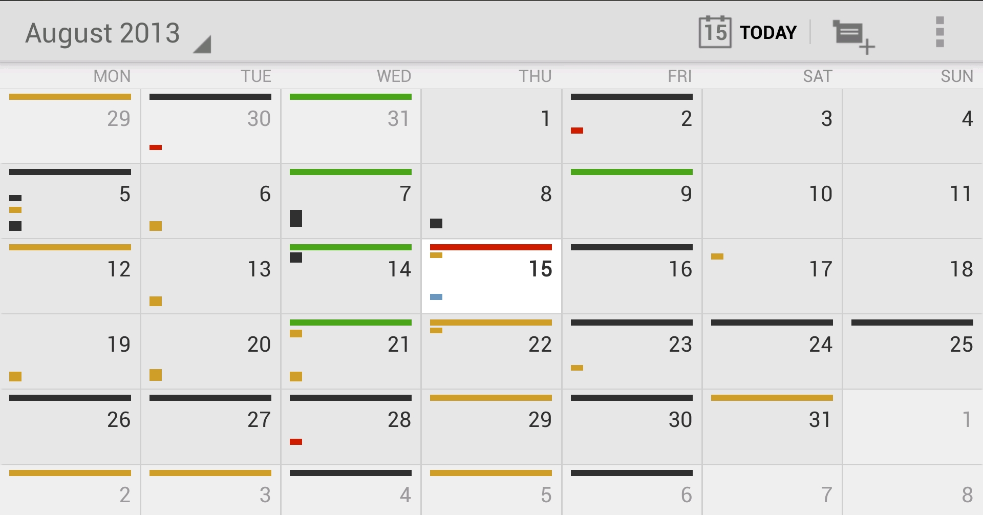 GoogleCalendarMonthly 12 of the best calendar apps available for your Android smartphone today