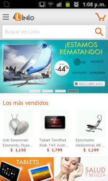 Linio1 220x366 Latin American Amazon clone Linio launches its shopping app on Android