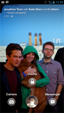 Lock screen bauble1 220x391 Facebook adds Cover Feed to its Android app, Home no longer required