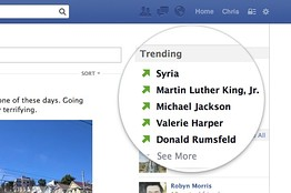 OB YS902 FACEBO D 20130830140217 Facebook is testing Twitter like trending topics on its News Feed
