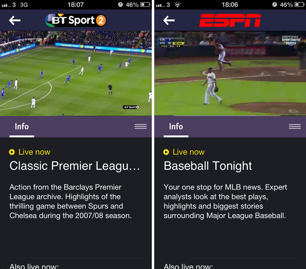 btsport3 A cord cutters dream: BT Sport for iOS serves up live streaming, highlights, news and more