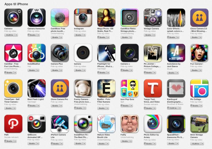 Ikony aplikacji na iPhone'a