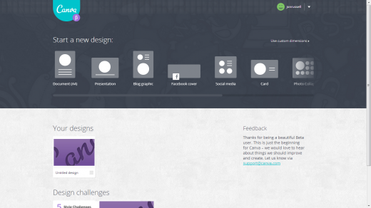 canva1 520x292 Canvas simple and collaborative Web based platform aims to turn anyone into a designer
