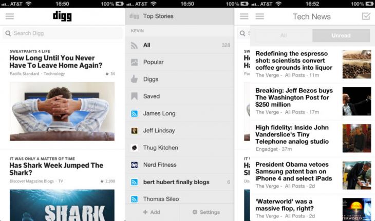 digg reader ios 730x431 Digg adds new reading features to iOS app, brings Reader to the mobile Web, and promises Android app very soon