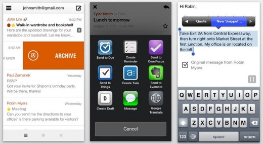 dispatch update 520x284 Slick iPhone email app Dispatch gets support for Evernote Reminders and TextExpander