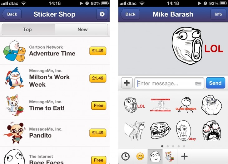 mm2 horz 730x526 Mobile chat app MessageMe takes first step to making money by introducing stickers