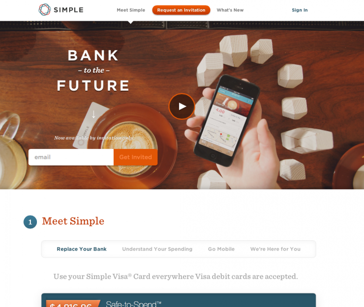 simple bank 730x616 How emotional design can give your website much more impact