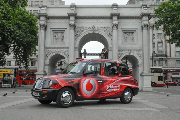 vodafone 4g taxi 730x488 Vodafone enters UK 4G fray with same August 29 launch date as O2; now only Three is missing