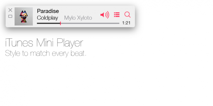 wct miniplayer 730x365 Check out Apples OS X, reimagined in the style of iOS 7