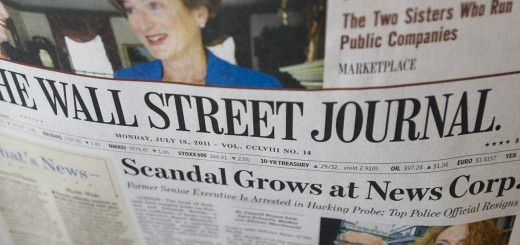 The Wall Street Journal is viewed on Jul