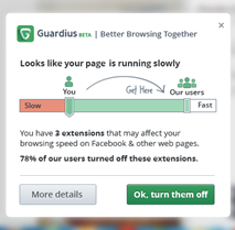 z Guardius tells you which of your browser add ons suck, by tapping the wisdom of the crowd