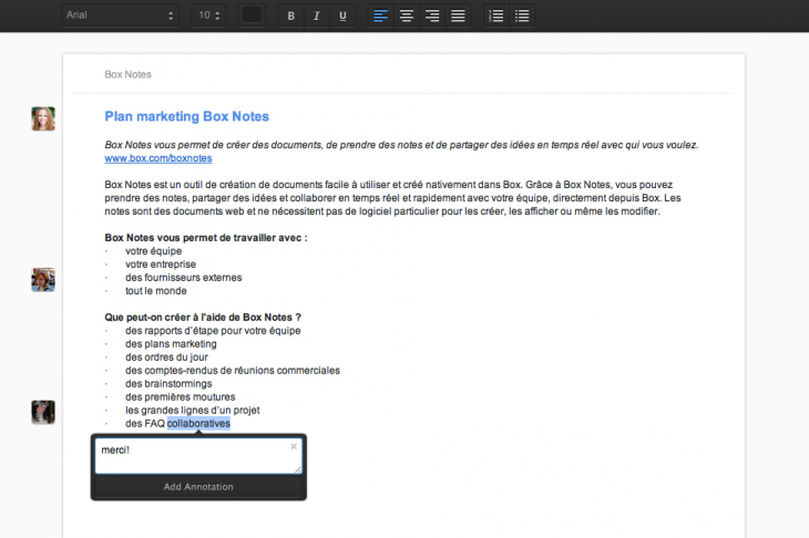 Box Notes French Heads at Work 730x486 Box unveils Notes, its take on Google Docs thats coming to all users in 2014