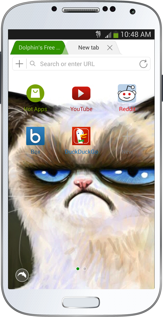 Grumpy Cat Dolphin browser goes local, partnering with Baidu, Yandex, Yahoo Japan and DuckDuckGo