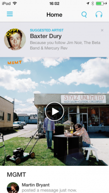 IMG 0122 220x390 Discovrs music discovery app for iOS gets a slick revamp with Spotify and Rdio support