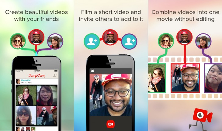 JumpCam1 730x431 JumpCam for iOS lets you collaborate with others to create videos from multiple clips
