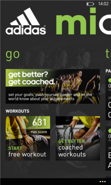 MiCoach 220x366 Nokia and Adidas team up to launch miCoach fitness app for Lumia handsets running Windows Phone 8