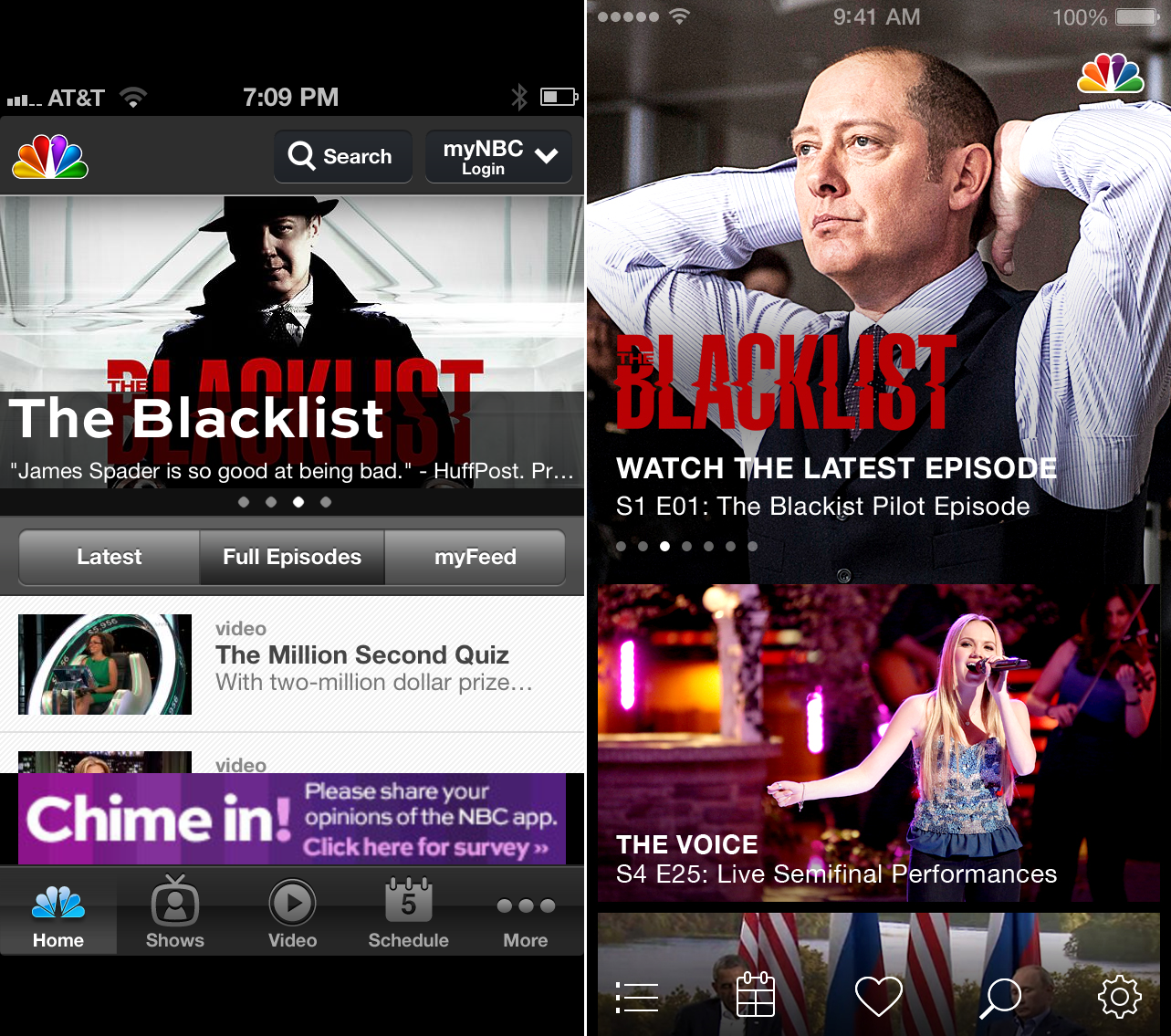 NBC iOS7 Before and after: The best iOS 7 app redesigns