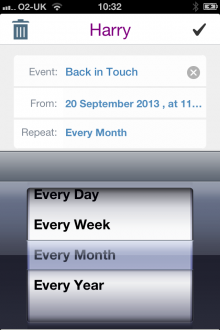 Photo 09 09 2013 10 32 11 220x330 This iPhone app helps you stay in touch with friends by setting goals and reminders
