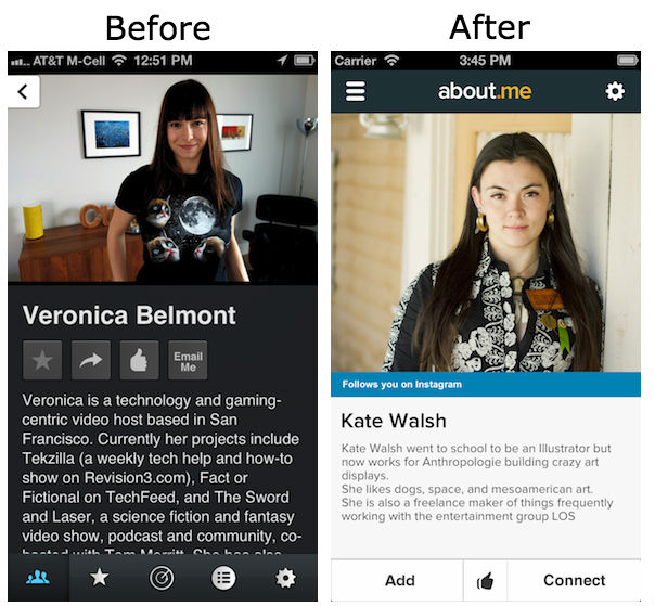 aboutme beforeafter Before and after: The best iOS 7 app redesigns