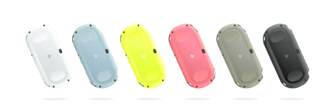 colors1 Sony announces lighter, thinner PlayStation Vita with longer battery life