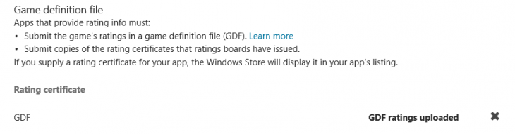 game definition file 36B5D53D 730x191 Microsoft simplifies Windows Store age ratings for developers by moving required data from apps to the Web