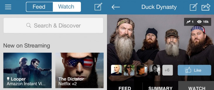 getglue 730x307 GetGlue updates its iOS app to become a social remote control (at least for some US users)