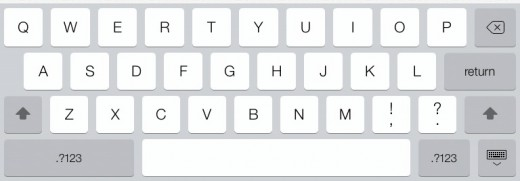 iOS 7 keyboard on iPad 520x181 iOS 7 review: A bold overhaul that youll grow to love