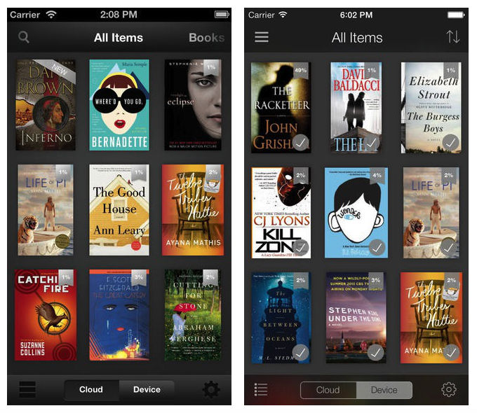 kindle beforeafter Before and after: The best iOS 7 app redesigns