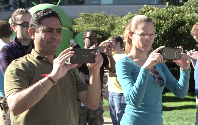 nexus mystery Google yanks video of Android KitKat statue unveiling after possible Nexus prototype spotted