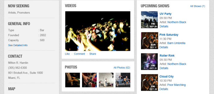 profileVenues 730x322 Music industry matchmakers Giggem now wants to match bands with venues and promoters