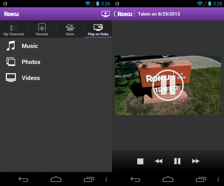 roku android stream 730x608 Roku for Android updated to let you beam videos from mobile device to set top box