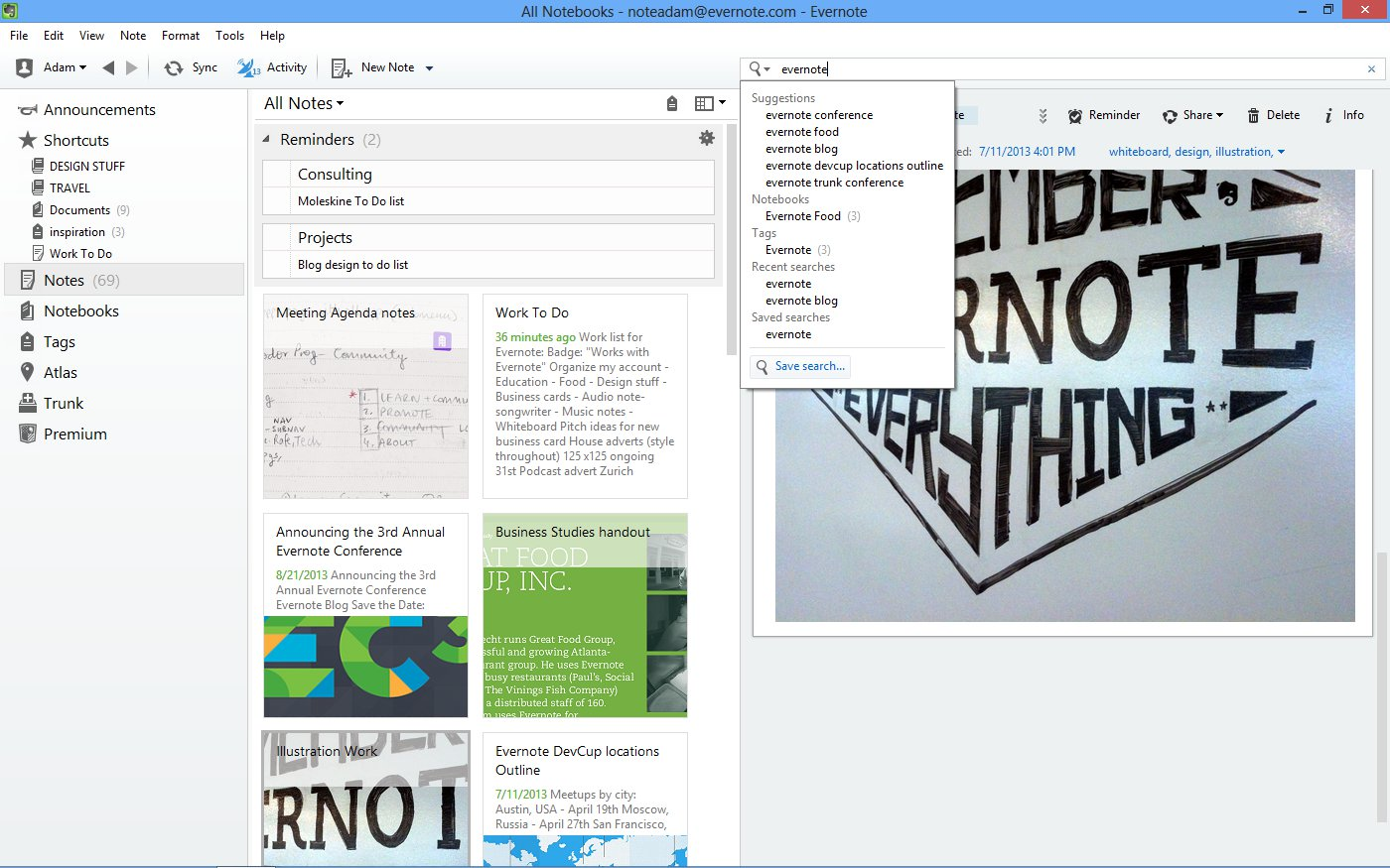 how to set reminders in evernote windows