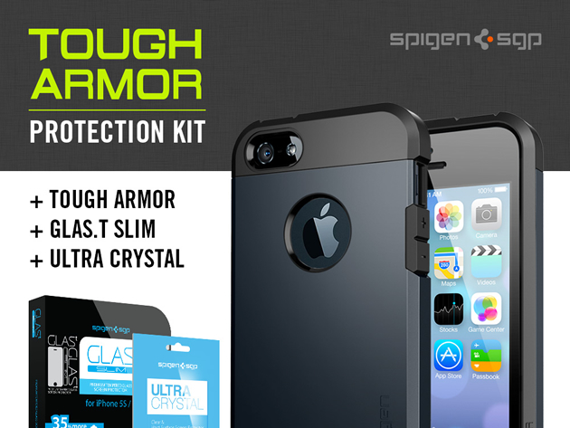 spigen3 Protect your iPhone 5 or 5s with the Spigen Tough Armor Case bundle: 50% off – come and get it!