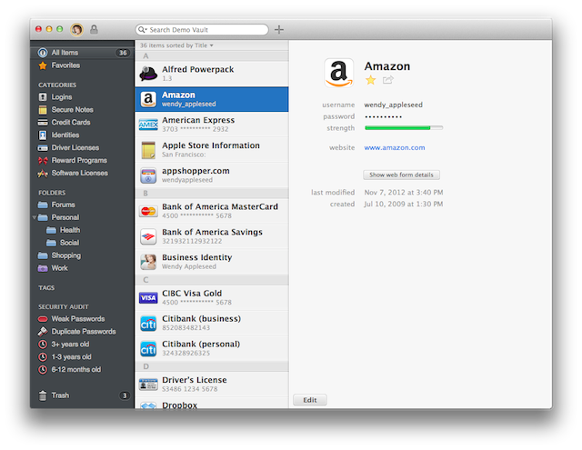1Password Mac app 10 of the best multi platform password managers for iOS, Android and the desktop