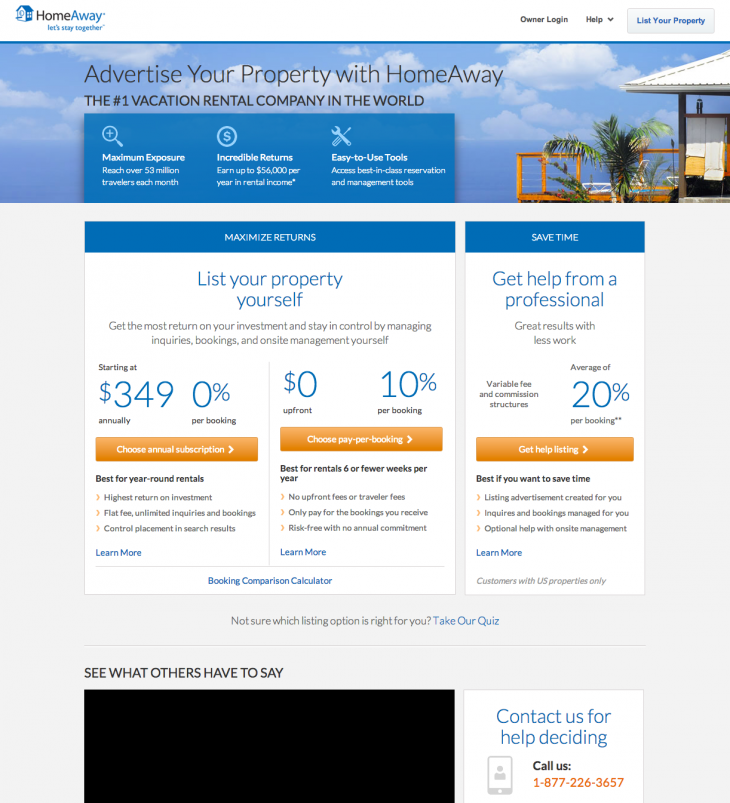 3 Fork LYP13 730x803 US holiday rentals site HomeAway launches new payment model to attract more customers