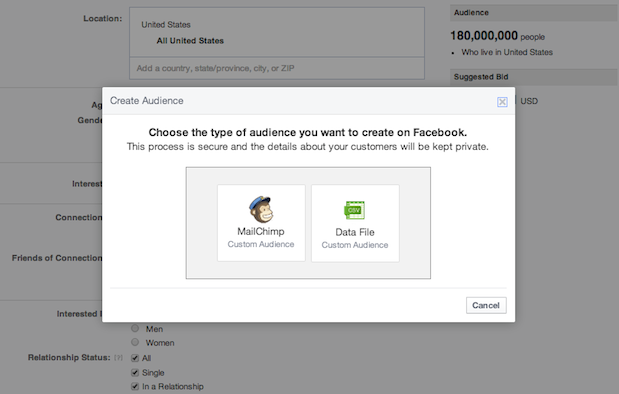 851552 566355176753233 1331993105 n Facebook starts rolling out Custom Audiences to all advertisers, letting them use contact lists for targeted ads