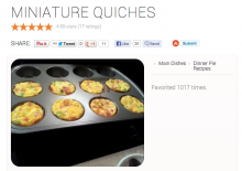 Allthecooks quiches 220x155 What happened when I let apps rule my life for a day