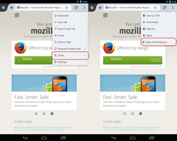 English 600x479 Firefox 25 arrives with Web Audio API support, guest browsing and mixed content blocking on Android
