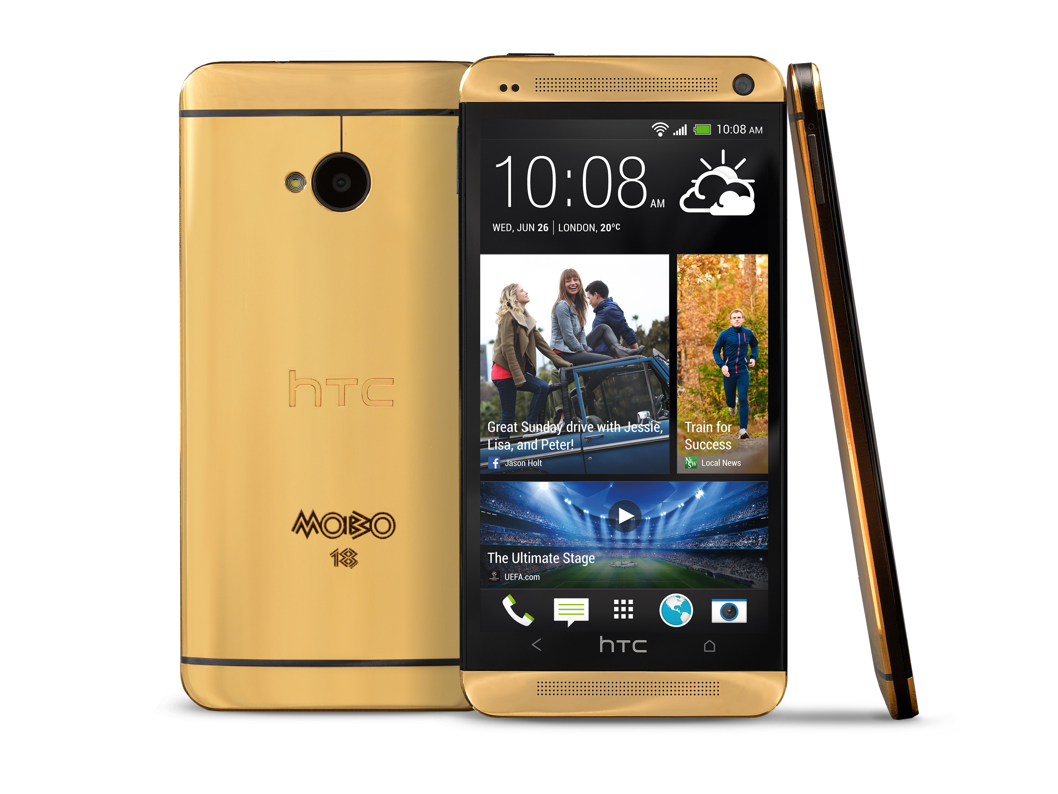 Forget the gold iPhone, here's the 18ct gold HTC One valued at $4,400 - but you can't buy one