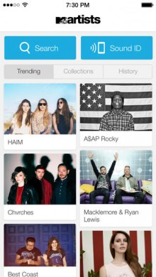 MTV launches a new Shazam style app with exclusive content and ticket buying feature
