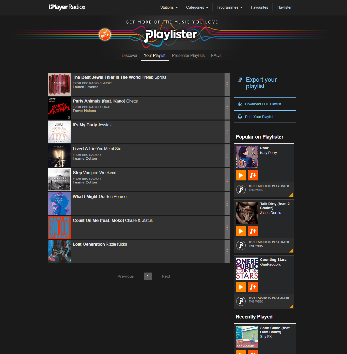 Playlister playlist How to use the BBCs new Playlister music service